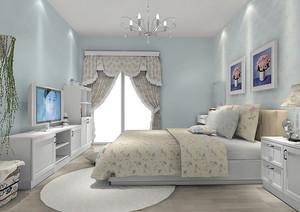 韩式风格三居室卧室装修效果图赏析