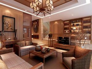120平米东南亚风格客厅装修效果图赏析