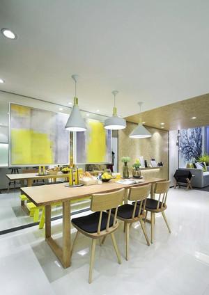 80平米都市小清新风格精致餐厅装修效果图