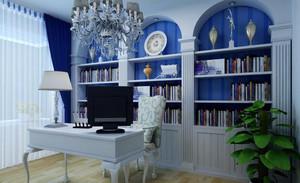 三居室地中海风格书房装修效果图赏析