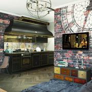 客厅后现代局部110平米装修