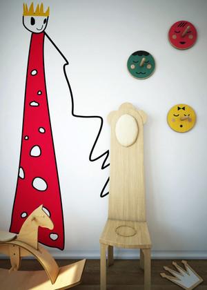 100平米简约风格儿童房墙纸效果图赏析