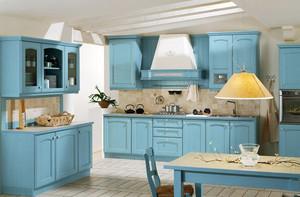 90平米美式田园风格开放式厨房装修效果图