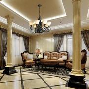 欧式风格别墅客厅吊顶装修效果图赏析