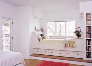 小户型简欧风格卧室飘窗装修效果图鉴赏