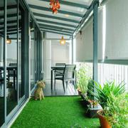 现代风格大户型阳台花园装修效果图
