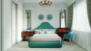110平米现代风格华丽卧室装修效果图赏析