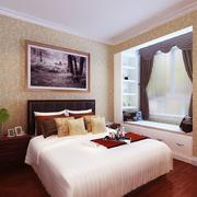 卧室简约飘窗100平米装修