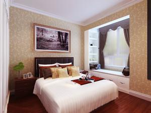 100平米现代简约风格卧室飘窗装修效果图