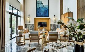 100平米新中式风格客厅装修效果图