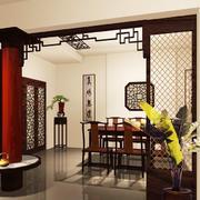 100平米中式风格餐厅装修效果图