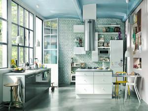 北欧风格复式楼厨房装修效果图