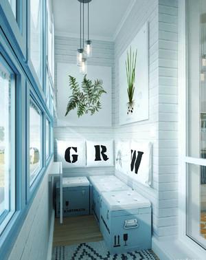 北欧风格时尚单身公寓装修效果图鉴赏
