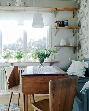 100平米北欧风格实木餐厅装修效果图