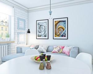 北欧风格单身公寓整体装修效果图赏析