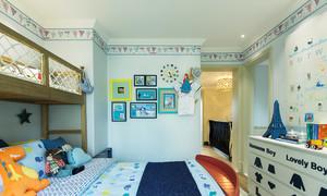 100平米简欧风格时尚儿童房墙纸效果图