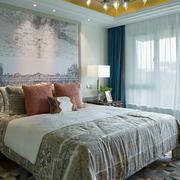 美式田园风格大户型卧室装修效果图赏析