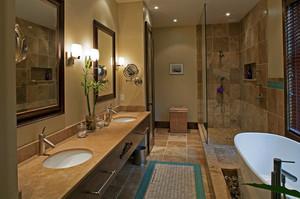 120平米美式风格时尚卫生间装修效果图