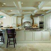 欧式风格别墅时尚厨房吧台设计效果图鉴赏