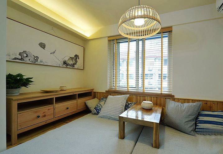 二居室日式风格卧室榻榻米装修设计效果图