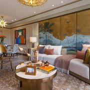 大户型时尚混搭风格客厅装修效果图赏析