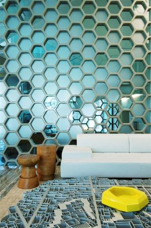90平米现代风格房间时尚隔断设计效果图