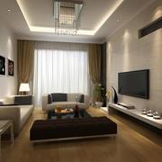 70平米现代简约风格客厅装修效果图