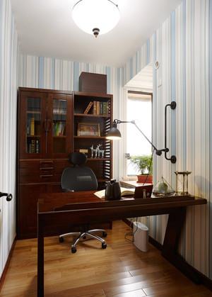 110平米中式风格书房装修设计效果图