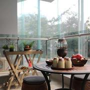 二居室中式风格阳台装修效果图赏析