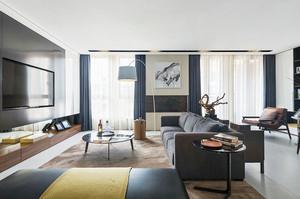 2016年后现代风格别墅室内整体设计效果图
