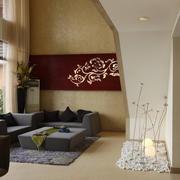 复式楼现代风格精致客厅沙发设计装修效果图