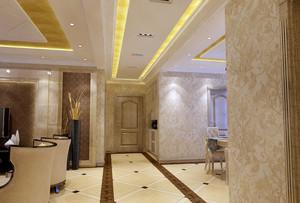 140平米欧式风格进门玄关吊顶装修效果图