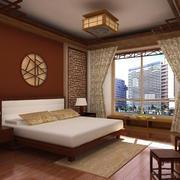 新中式风格大户型卧室吊灯装修效果图