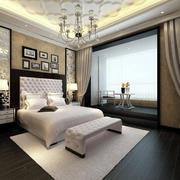 大户型简欧风格精致典雅卧室背景墙装修效果图