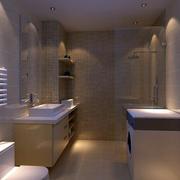 10平米现代风格卫生间整体设计装修效果图