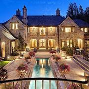 300平米欧式风格别墅设计装修效果图