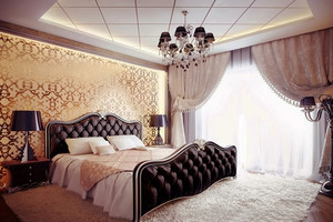 欧式风格复式楼卧室窗帘装修效果图赏析