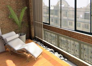 90平米现代风格阳台护栏设计效果图鉴赏