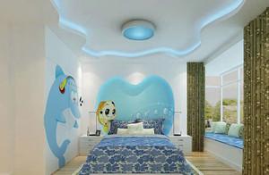 地中海风格自然简约创意儿童房吊顶装修效果图