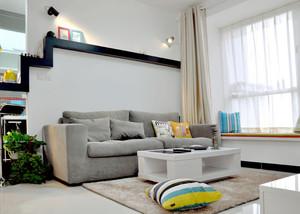 50平米都市小清新女生单身公寓装修效果图