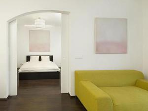 85平米都市小清新绿色主题公寓装修效果图赏析