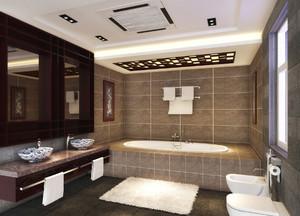 5平米现代中式风格卫生间洗漱台装修效果图