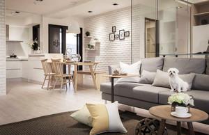 80平米北欧风格自然舒适公寓设计装修效果图