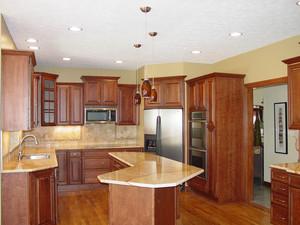 别墅美式乡村风格厨房橱柜设计装修效果图