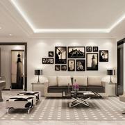 现代简约风格客厅照片墙装修效果图