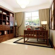 中式风格大户型书房家具设计装修效果图