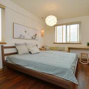 韩式风格80平米简约主卧室背景墙装修效果图