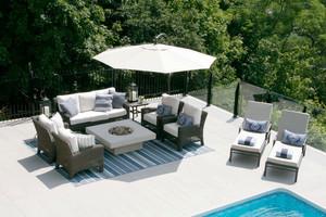 300平米别墅户外露天阳台设计装修效果图