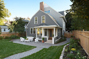 简约美式风格两层自建别墅设计装修效果图赏析