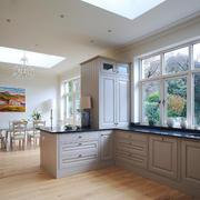 145平米欧式风格开放式厨房餐厅设计装修效果图